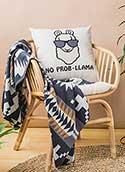 No Prob Llama Pillow