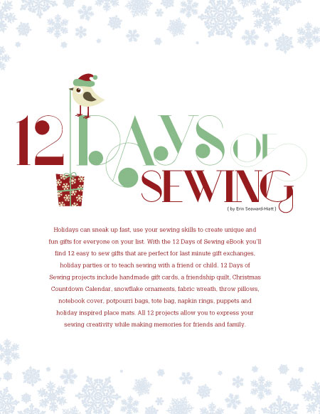 12 Days of Christmas Free Sewing Ideas