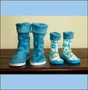 Mom & Kid Easy Sew Slippers