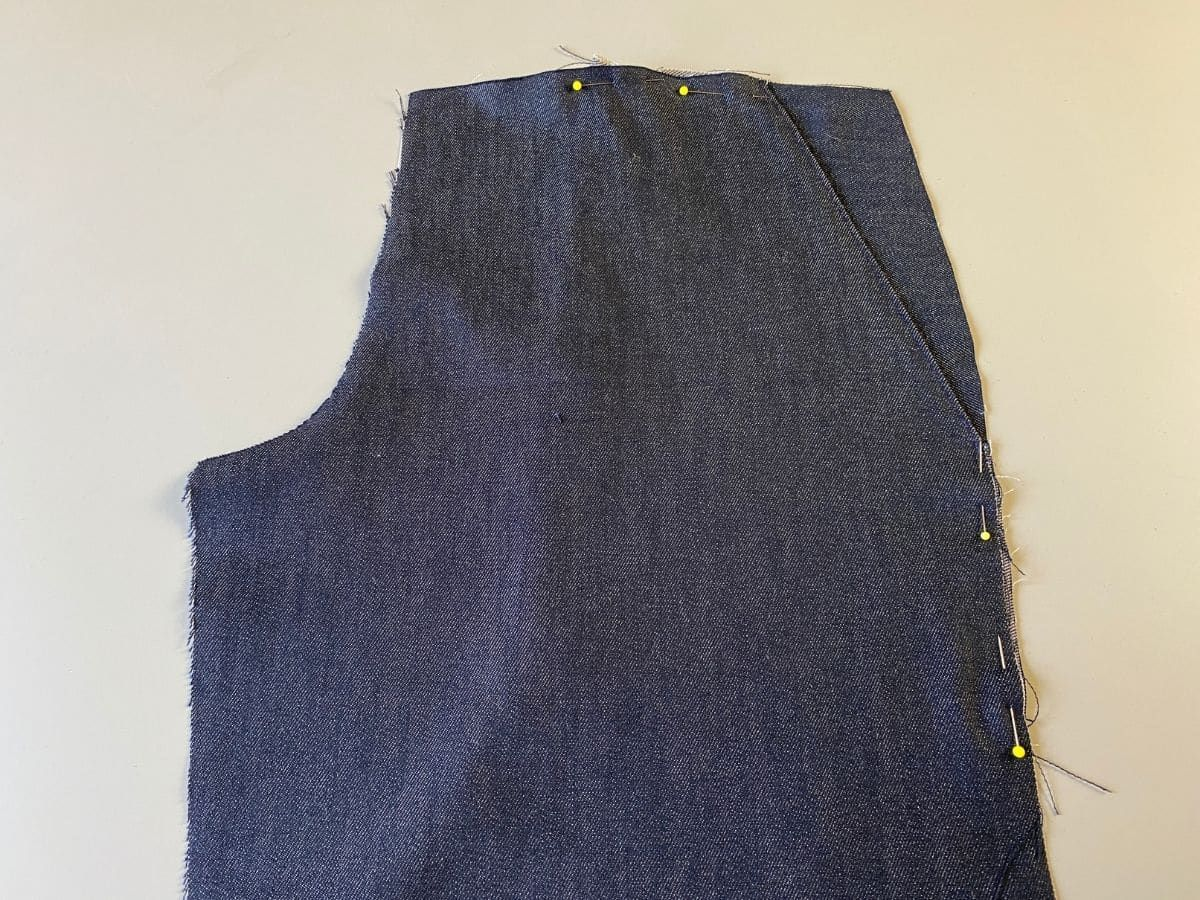 The pocket flipped to the wrong side and matched to the side and waist notches