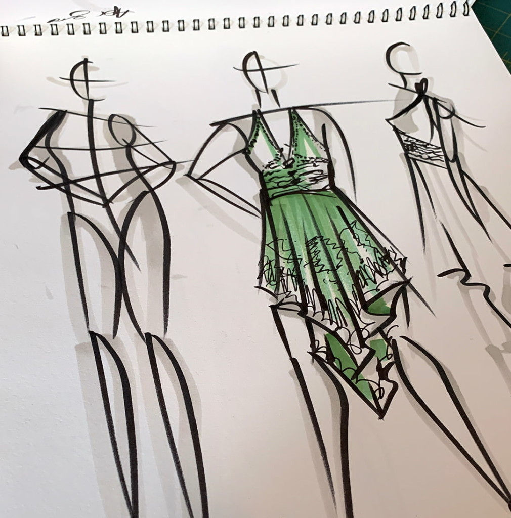 Out Of Fabric Try Fashion Sketching Sew Daily