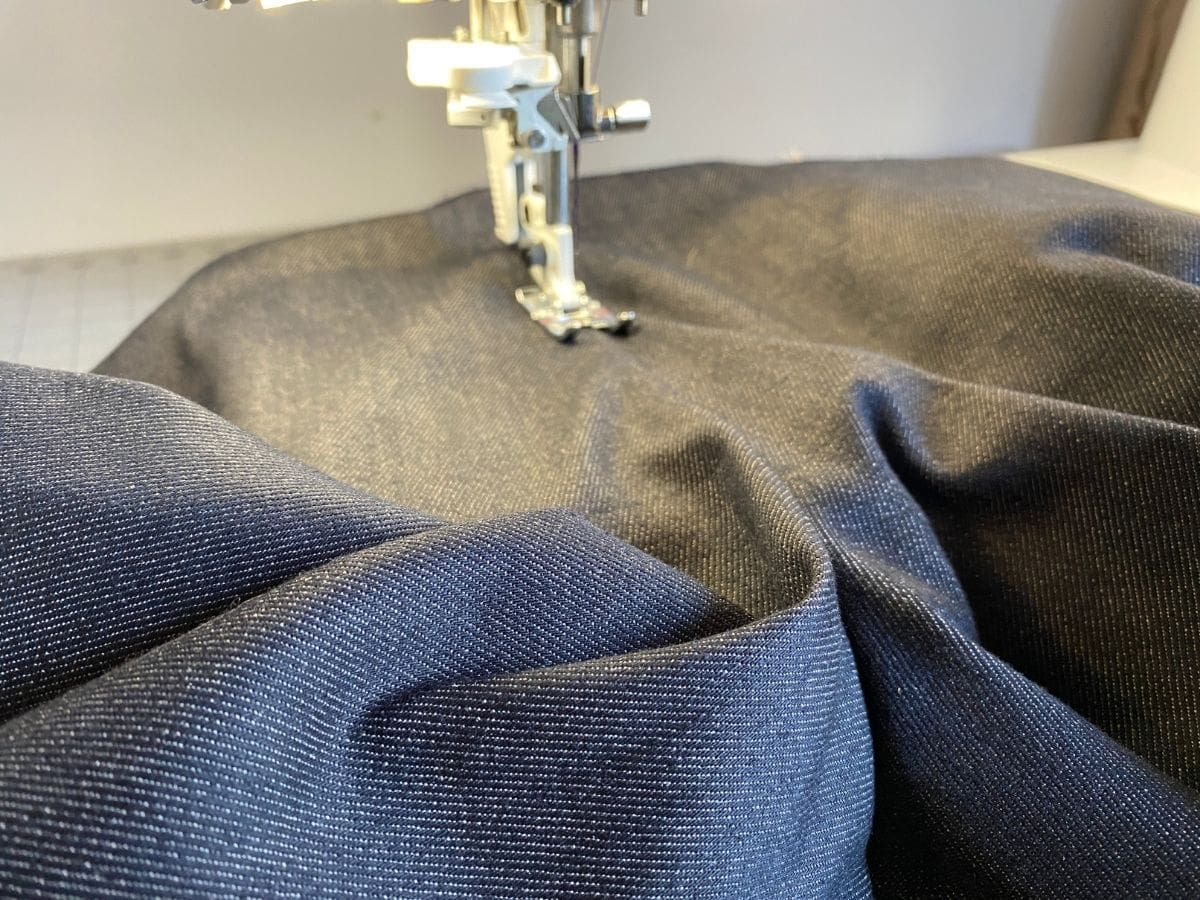 Topstitching to hold the seams down flat