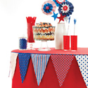 Red White & Blue Buffet Free Table Cloth Project