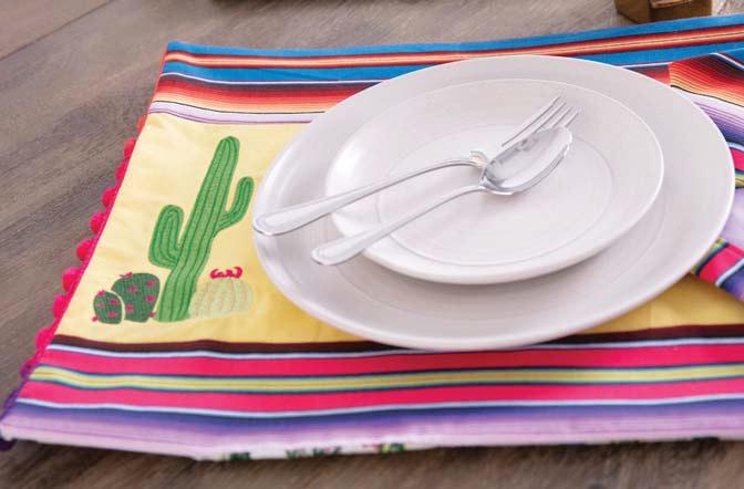 Saguaro Cactus Embroidery Fiesta Set