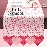 In the Name of Love: Table Runner Sewing Templates