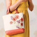 Leather Petals Tote