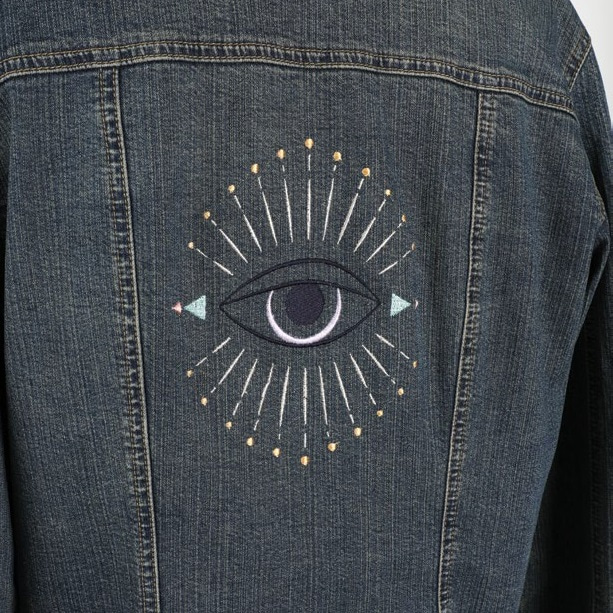 Mystic Eye Embroidery Design