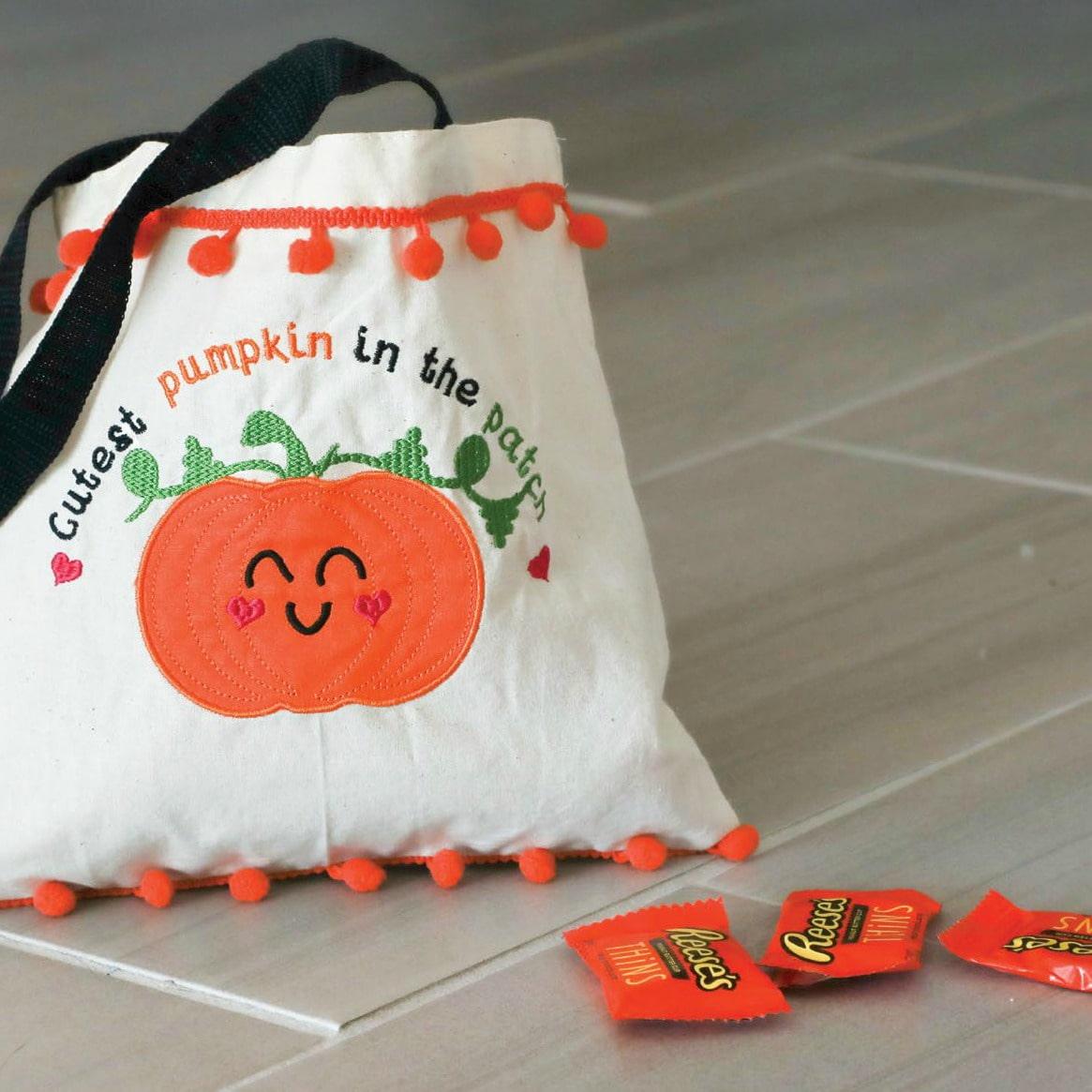 Pumpkin Appliqué Embroidery Design