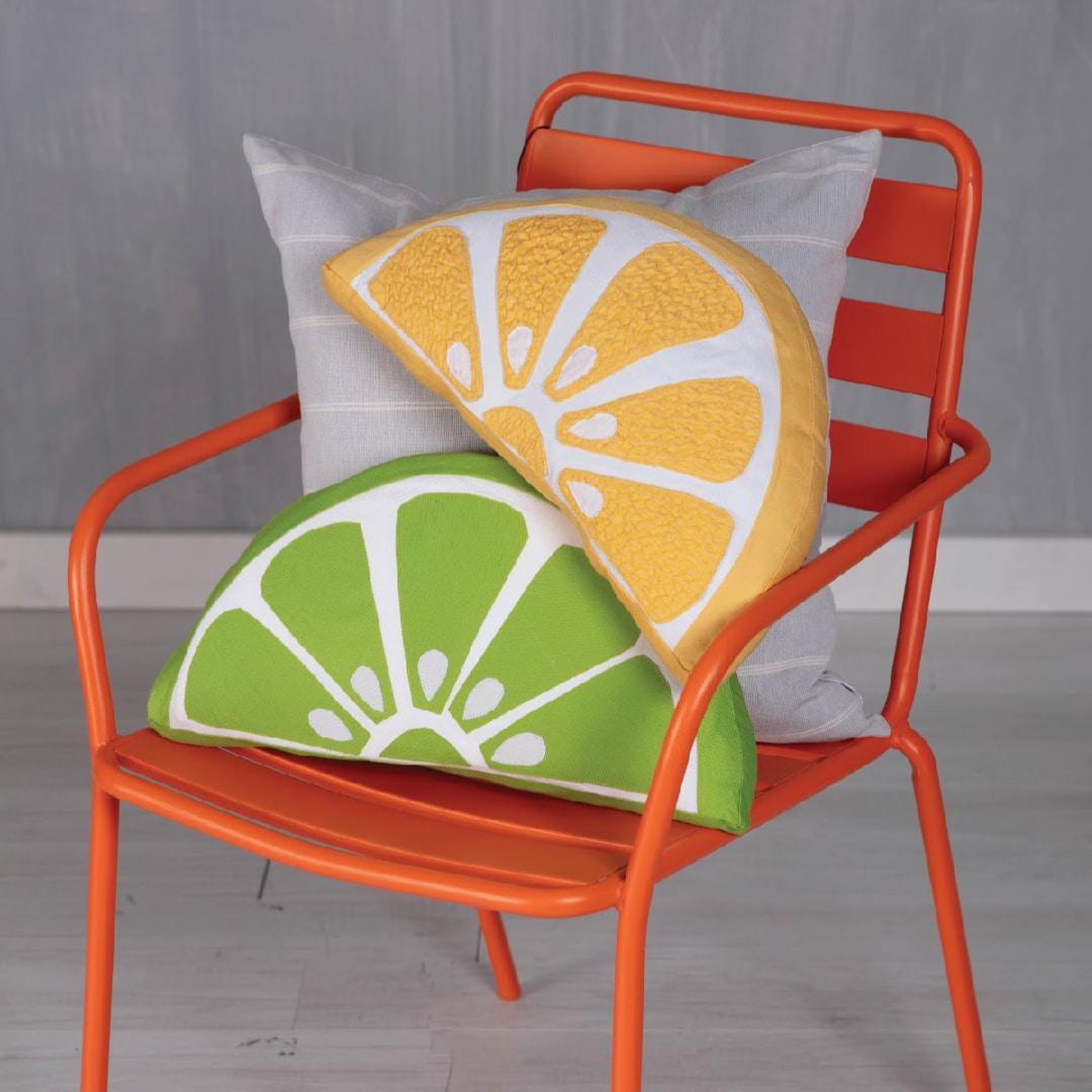 Citrus Twist Toss Pillow Pattern