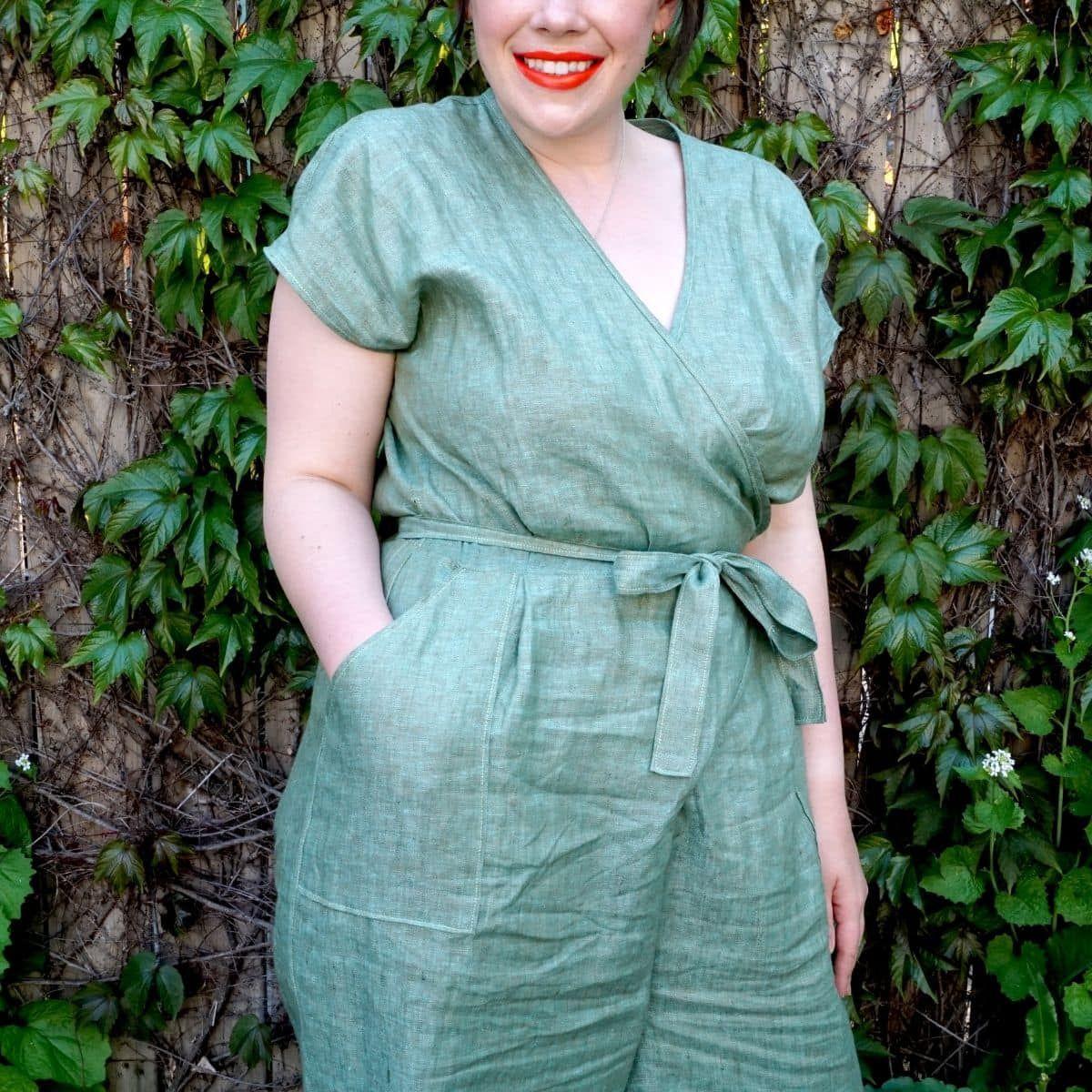 Meg's Zadie Jumpsuit with patch pockets