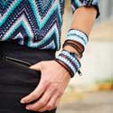 Embroidered Zipper Bracelets