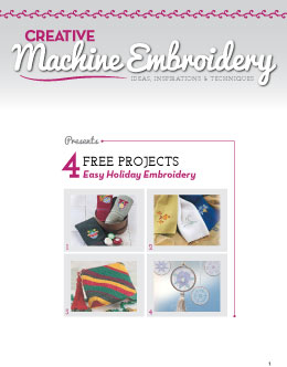 Free Holiday Machine Embroidery Projects eBook