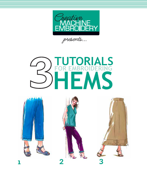 3 Tutorials for Embroidering Hems