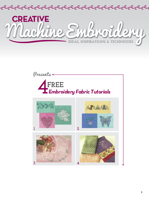 Free Embroidery Fabrics Tutorials