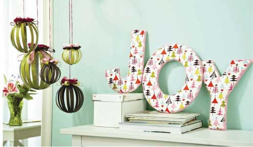 Paper Ornaments & Fabric Letters