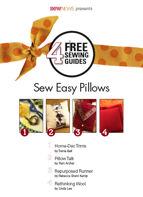 Sewing Pillows - Free Guide + Projects