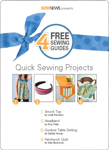 Quick Sewing Projects Free eBook