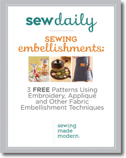 Free Guide to Sewing Embellishments including Embroidery, Applique and More