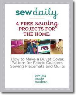 Download your collection of free sewing projects for the home!