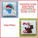 Free Holiday Embroidery Designs