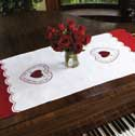 Free Scallop Template For From The Heart Table Runner